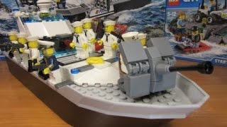Лего корабли. Лего 60129.  Военно-морской флот Лего-Сити