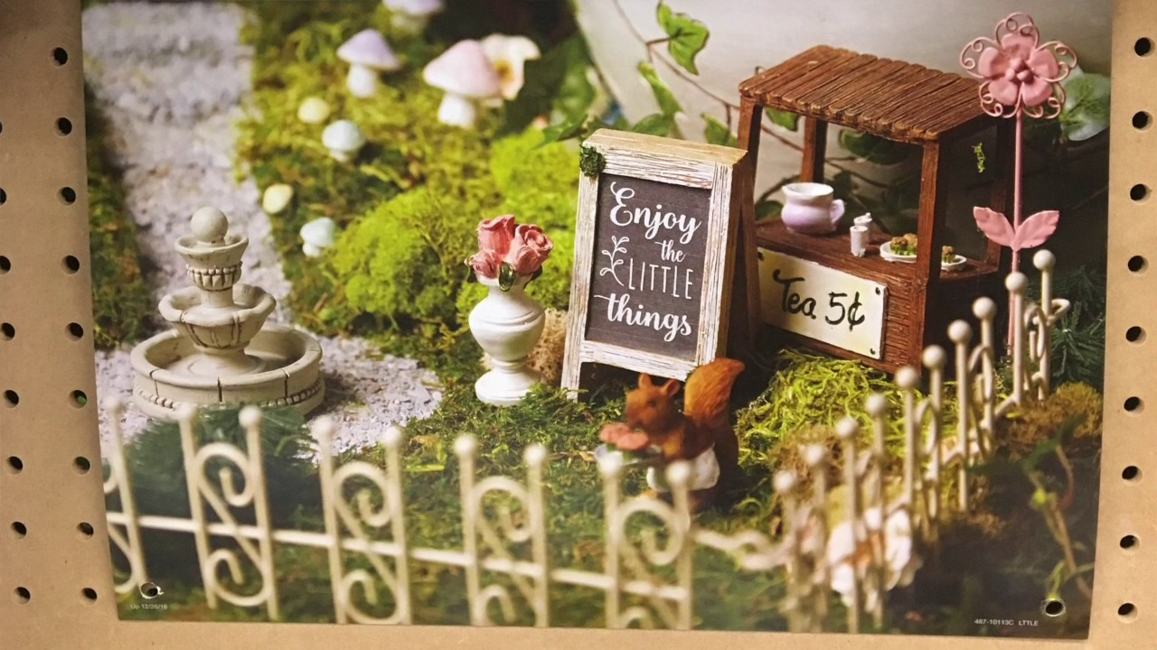 Miniature Garden Ideas minigarden 3 Fairy Garden Ideas Miniature Garden Ideas New For 2017 In The Big Box Stores