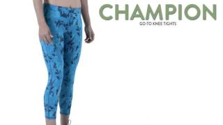 champion go to knee tights for women