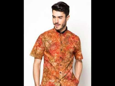 13 Model Baju Batik Pria Terbaru 2016 Desain Modern! - YouTube