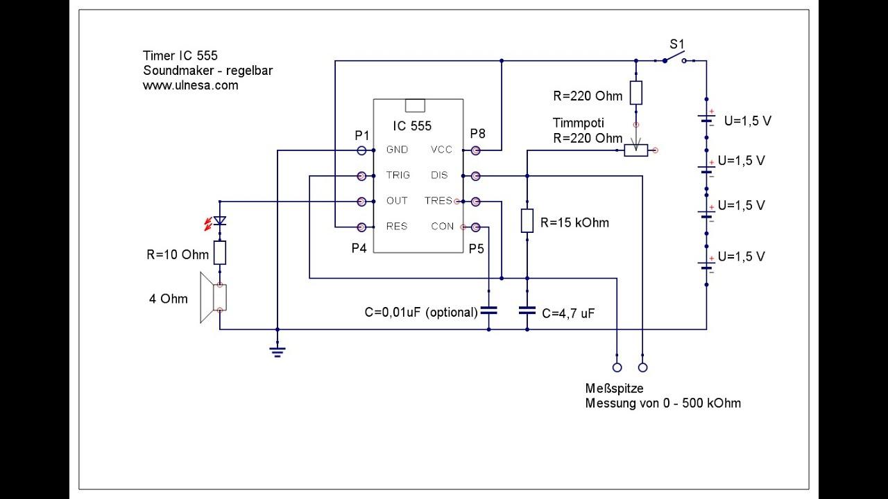 Weihnachtsbeleuchtung Mit Timer.Ic555 Durchgangsprüfer Mit Sound Von 0 400 Kohm Durchgang Teil 5