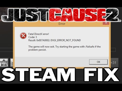 Just Cause 2 - Steam DirectX fix for Windows 8 - YouTube