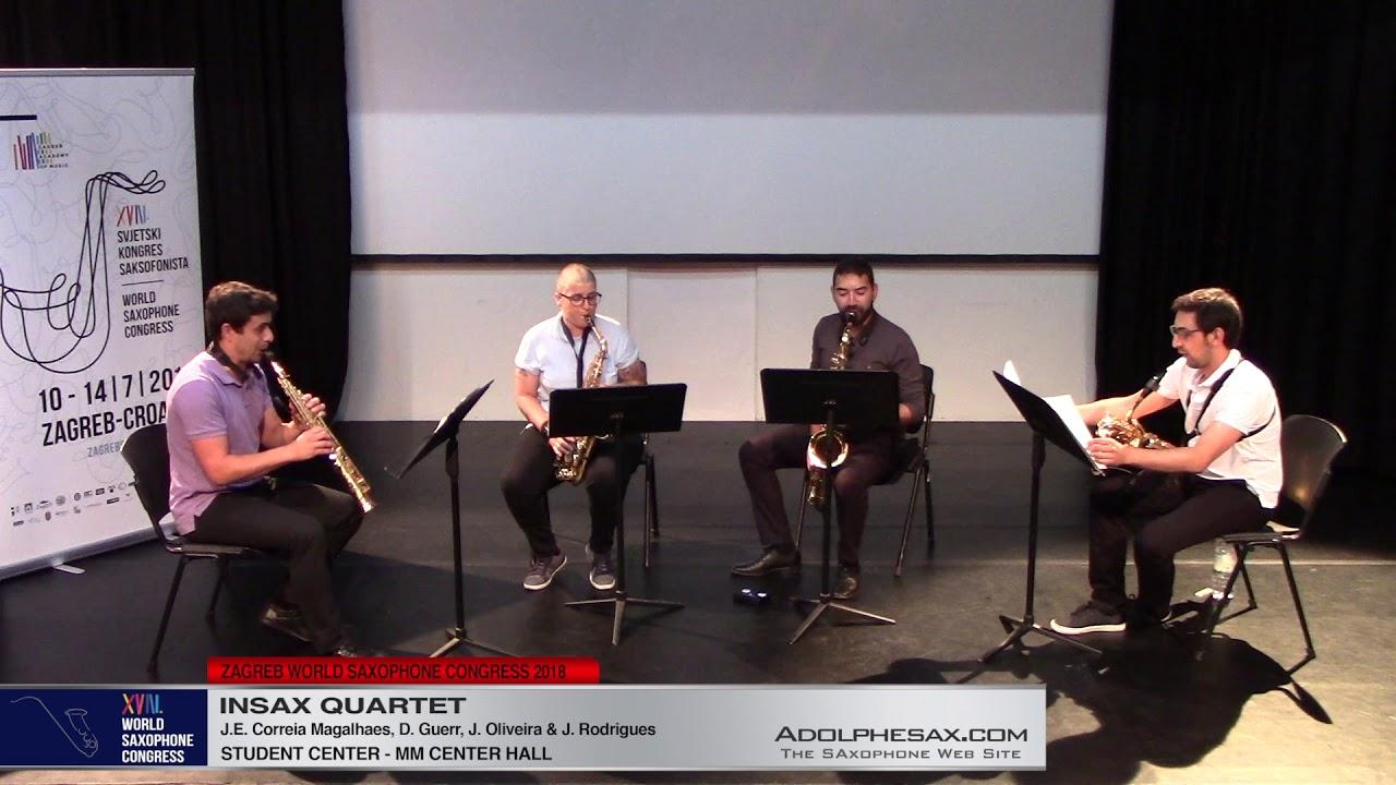 Alep  Multum in parvo   II by Ines Badalo   Insax Quartet   XVIII World Sax Congress 2018 #adolphesa