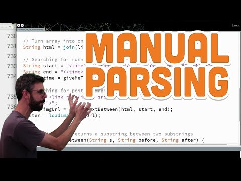 13.7: Manual Parsing - Processing Tutorial