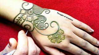 Latest Stylish Mehndi Design for Backhands |Thought of Creation