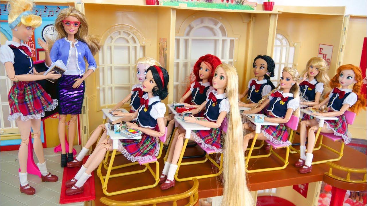 Barbie Rapunzel School Morning Routine School Life Kehidupan Sekolah Boneka Barbie Vida Escolar Youtube
