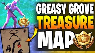 Fortnite - Follow The Treasure Map Found In Greasy Grove - Location & Battlestar Guide - Season 4