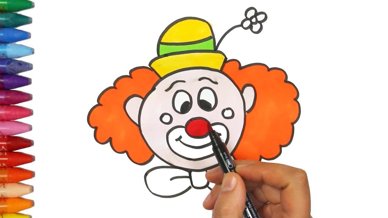 Youtube for Immagini di clown da colorare