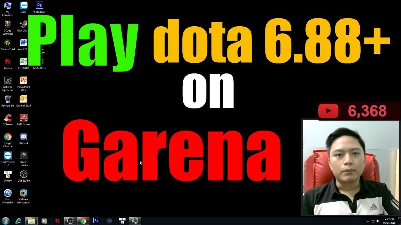 Hướng dẫn chơi map dota 6.88 trên Garena-Play dota 6.88v on Garena