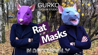 the process of assembling Rat masks