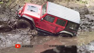 Jeep Wrangler Rubicon underwater mud | RC Trucks OFFROAD 4x4 Axial SCX10