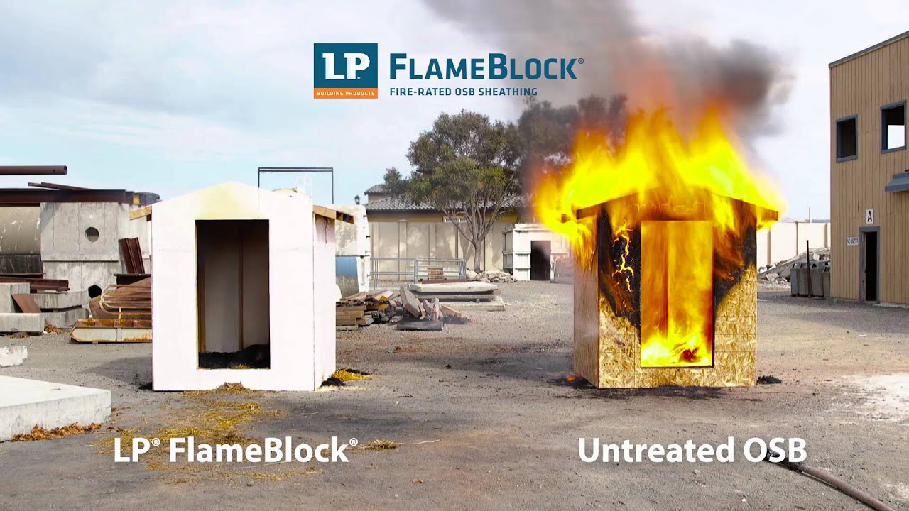 Lp Flameblock Fire Rated Osb Sheathing Burn Event Youtube