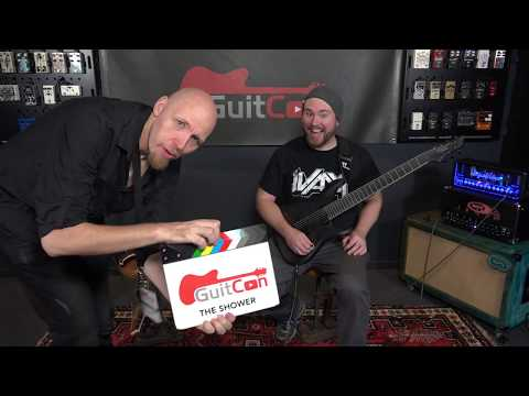 Jason hangs with Trey from Gear Gods at GuitCon 2017