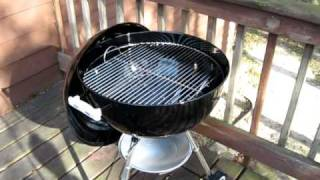 "Weber Kettle One-Touch Silver 22"" grill"