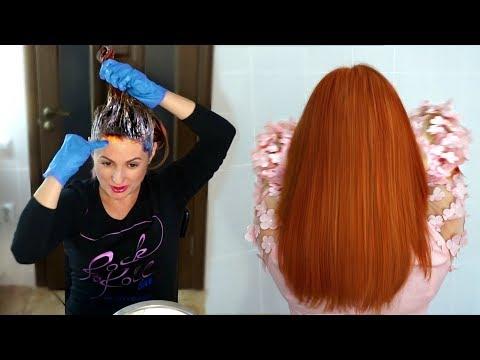 Как покрасить волосы в рыжий без осветления