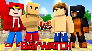 Minecraft Adventure - BAYWATCH - ZACH EFRON vs THE ROCK!!!