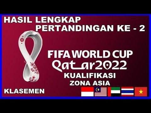 HASIL LENGKAP PERTANDINGAN KE 2 KUALIFIKASI PIALA DUNIA QATAR 2022 ZONA ASIA   WORLD CUP QATAR 2022
