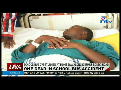 One dead in school bus accident along Kisumu - Bondo road