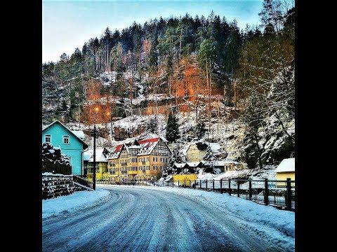 Hřensko Village in the Czech Republic in the winter from Travel with Iva Jasperson