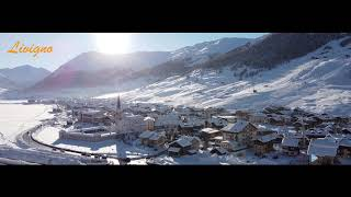 Livigno Aerial Drone Shot - Winter Season. Alps and Snow. Videomoreproduction - Travel & Adventure
