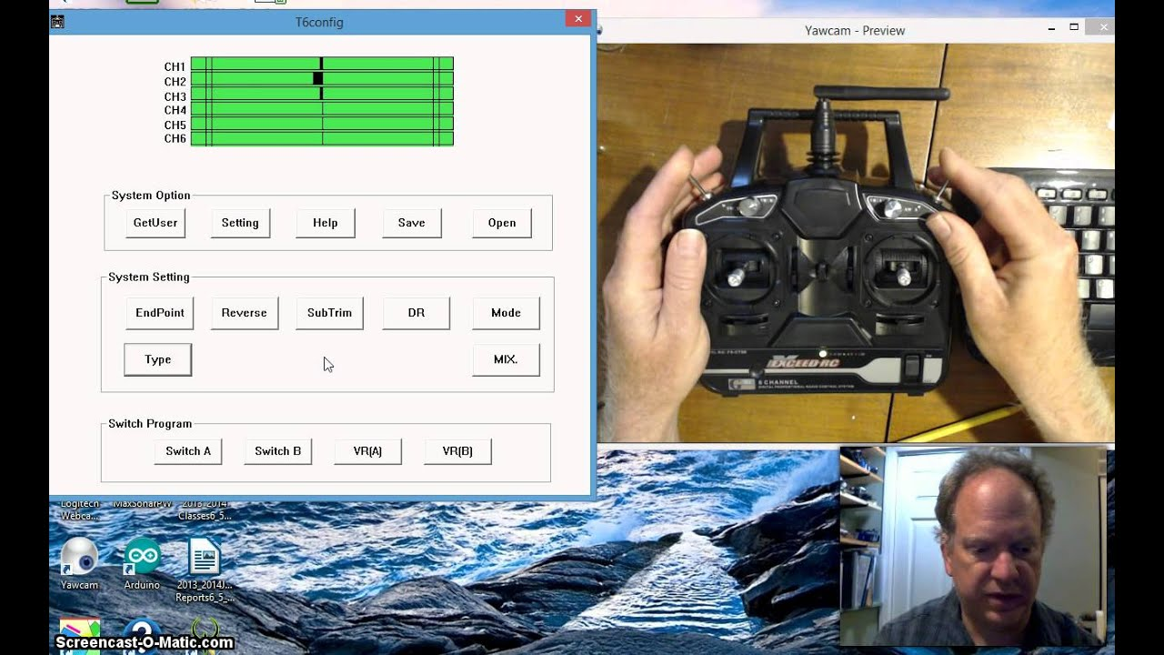 FlySky T6Config Setup on Windows 8 for Arduino Rob