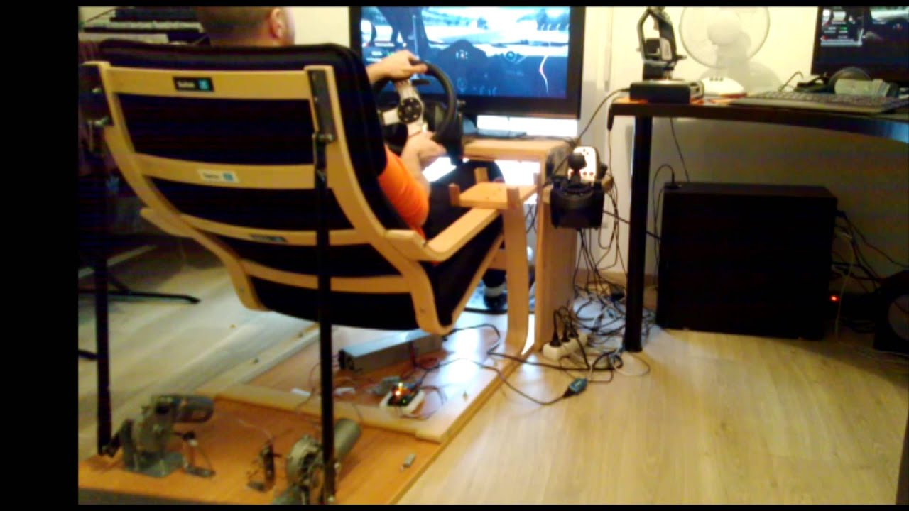 Flight Simulator Chair Motion Floor With Back Support Philippines Ikea 1dof Seat Youtube