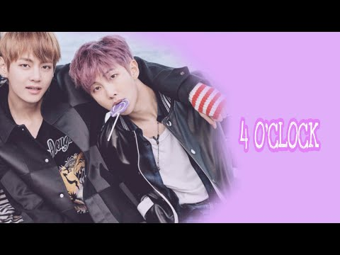 네시 (4 O'CLOCK) - Karaoke sing with Rap Monster & V (BTS)