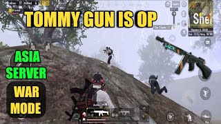 Let's Try Tommy Gun | Asia Server | Solo Vs Squad | PUBG Mobile