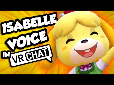 THE VOICE OF ISABELLE PLAYS VRCHAT! (ANIMAL CROSSING VOICE!)