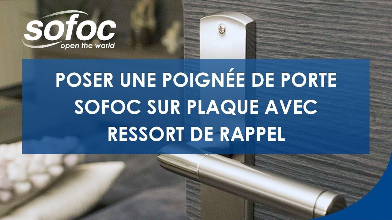 ... poignée de porte SOFOC sur plaque avec ressort de rappel - YouTube