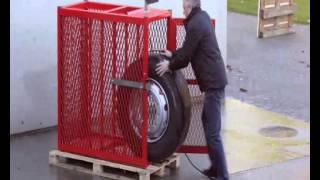 Накачка грузовых колес без клетки опасные примеры ч1