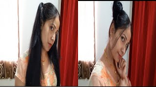 Double Ponytails Tutorial ||  Twin Bun Hairstyles...