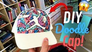 Making a CUSTOM Doodle Jordan Cap!   DIY How to make your own hat design !