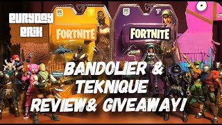 Jazzwares Fortnite Bandolier and Teknique 4'' solo mode action figures toy review and Giveaway!