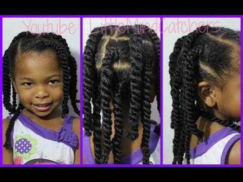 Braided Twists Easy Natural Hairstyle For Kids