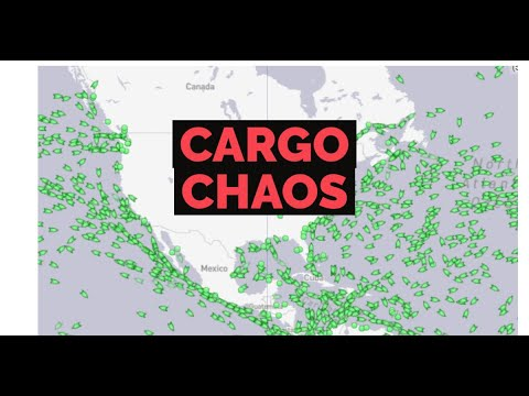 Hundreds of of cargo ships anchored off the U.S shore unable to deliver goods.