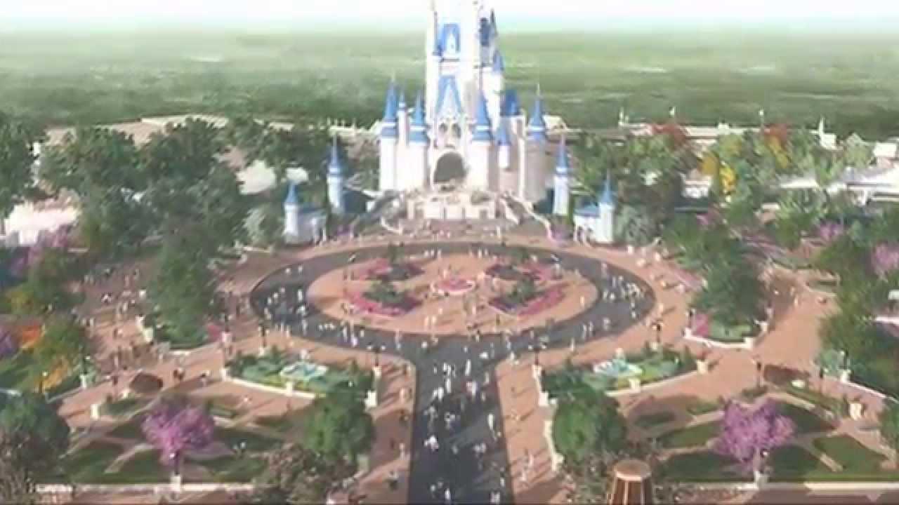 Magic Kingdom Plaza / Hub Construction Update - May 2015 - YouTube