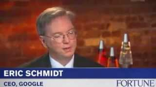 "Google CEO, Eric Schmidt - ""Everybody needs a coach"""