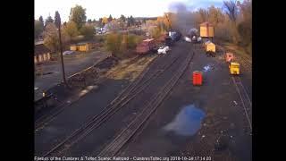 10/24/2018 The 2 work trains return to Chama, NM