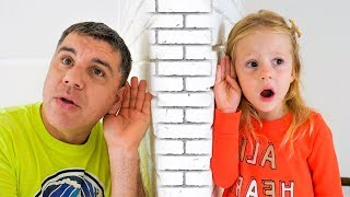 Nastya와 아빠는 마술 TV를 가지고 놀아요