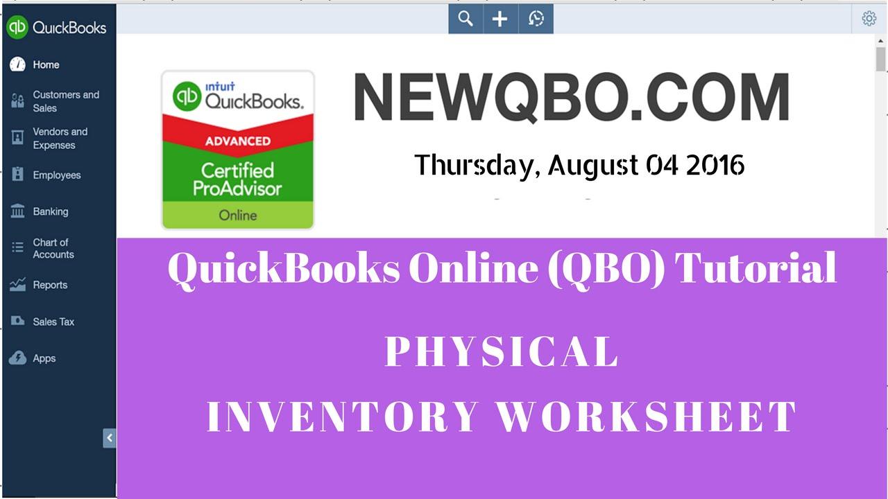 inventory worksheet