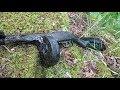 Автомат в руках у погибшего сержанта Раскопки Второй мировой  gagarin и металлоискатель