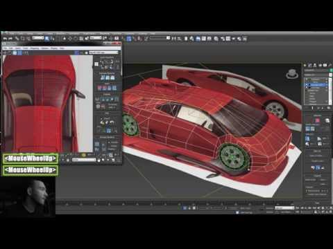 3dsMax low poly car modeling texture (lowpoly lambo)+érdekes(uv+texture)(magyar)HUN 3D Tutorial