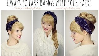 3 Ways to *Fake Bangs* with Your Hair!!
