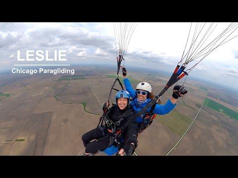 Tandem with Leslie | Chicago Paragliding