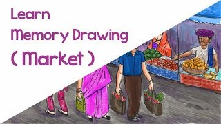 Download How To Draw Village Market For Elementary Grade