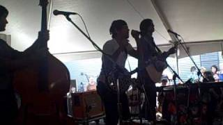 The Avett Brothers sound check and Shame Live at SXSW 09