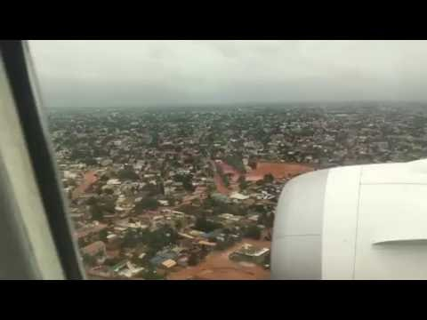 Landing to Lome Airport Togo from Addis Ababa Ethiopia 2016