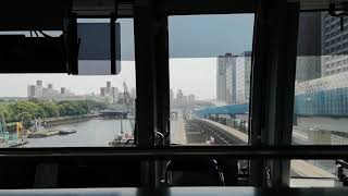 京浜運河を高速走行!東京モノレール 前面展望(天王洲アイル~大井競馬場前)