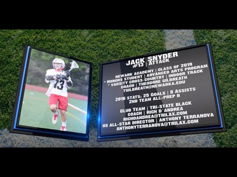 Jack Snyder 2016 Varsity Lacrosse Highlights | Newark Academy '19